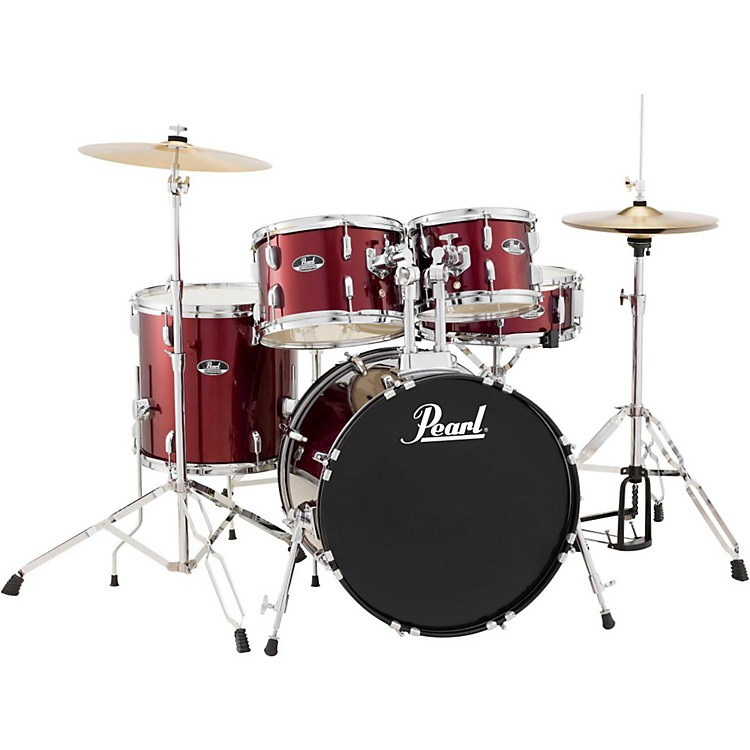 Pearl Roadshow 5-Piece Fusion Drum Set Wine Red