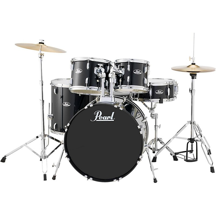 Pearl Roadshow 5-Piece New Fusion Drum Set Jet Black