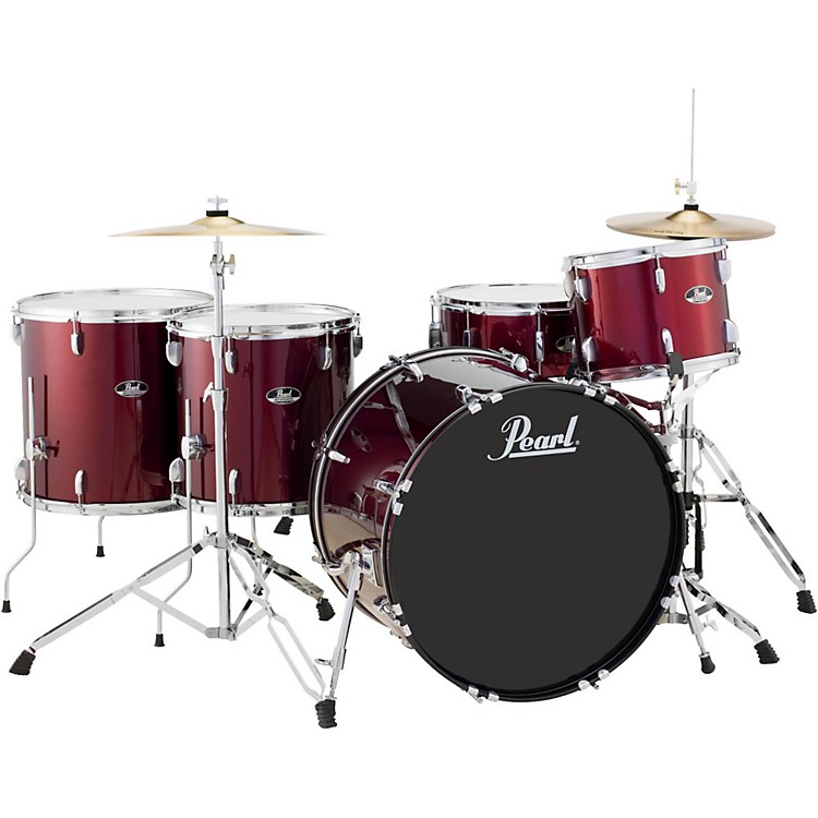 Pearl Roadshow 5-Piece Rock Drum Set Wine Red