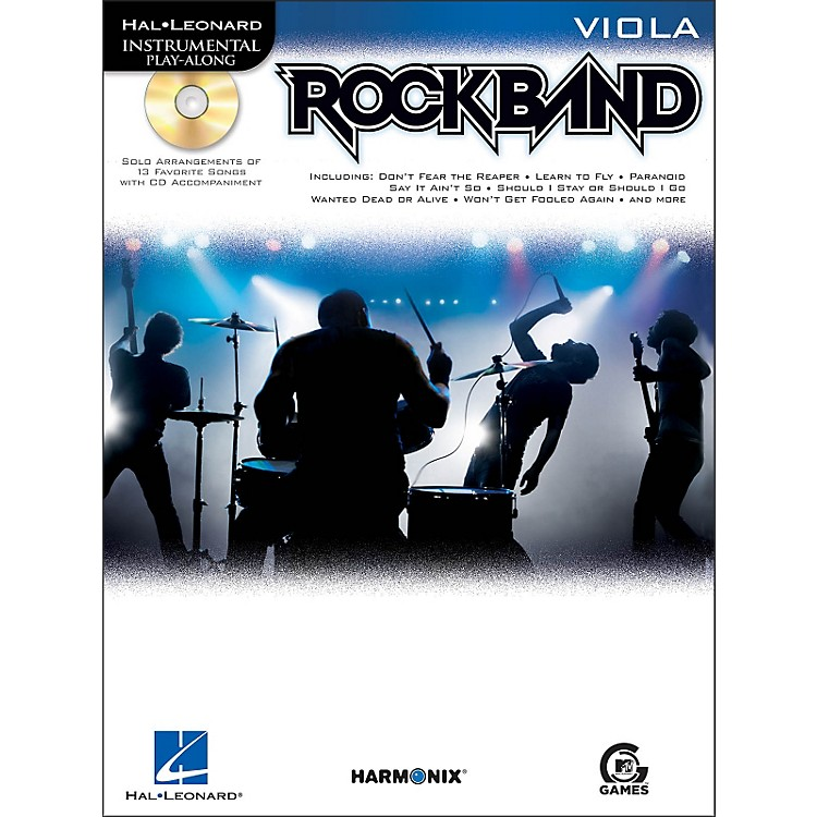 Hal LeonardRock Band for Viola Instrumental Play-Along Book/CD