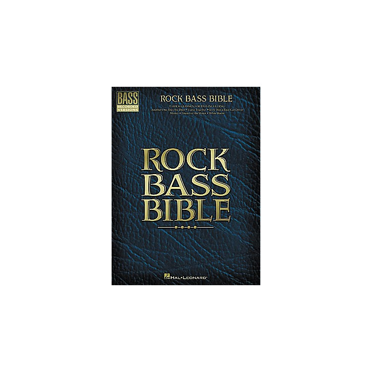 Hal LeonardRock Bass Bible Tab Book