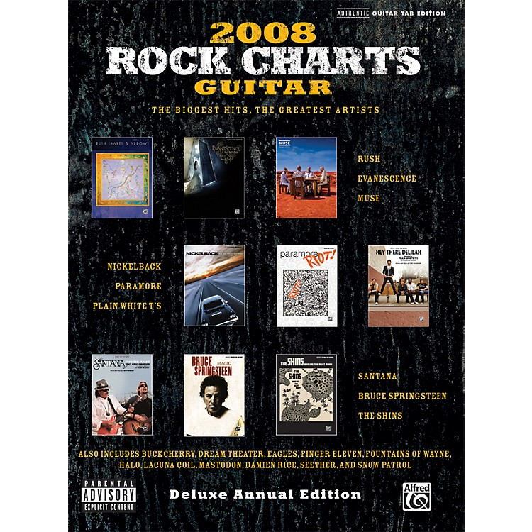 AlfredRock Charts 2008 Deluxe Annual Edition Guitar Tab Book
