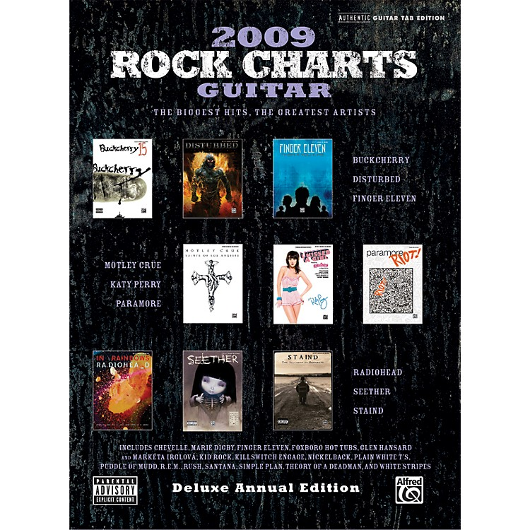AlfredRock Charts 2009 Deluxe Annual Edition Guitar Tab Book