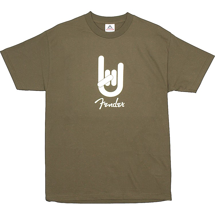 Fender Rock On T-Shirt Army Green Medium
