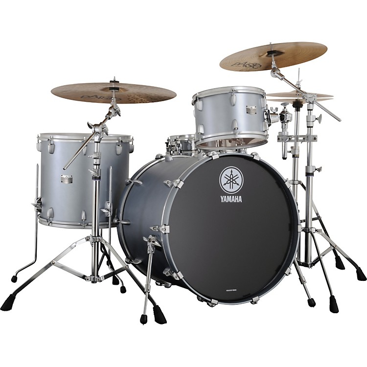 Yamaha Rock Tour 4-Piece Shell Pack w/ Matte Finish Matte Silver Metallic