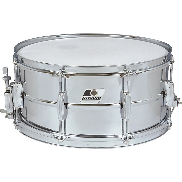 Ludwig Rocker Steel Shell Snare Drum  6.5X14 Inches