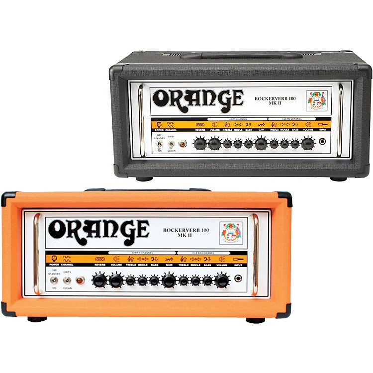 Orange Amplifiers Rockerverb 100 MK II 100W Tube Guitar Amp Head Black