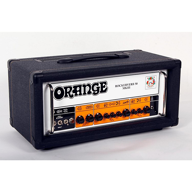 Orange Amplifiers Rockerverb 50 MKIII 50W Tube Guitar Amp Head Black 888365833453