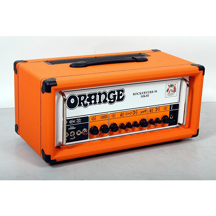 Orange Amplifiers Rockerverb 50 MKIII 50W Tube Guitar Amp Head Orange 888365850832