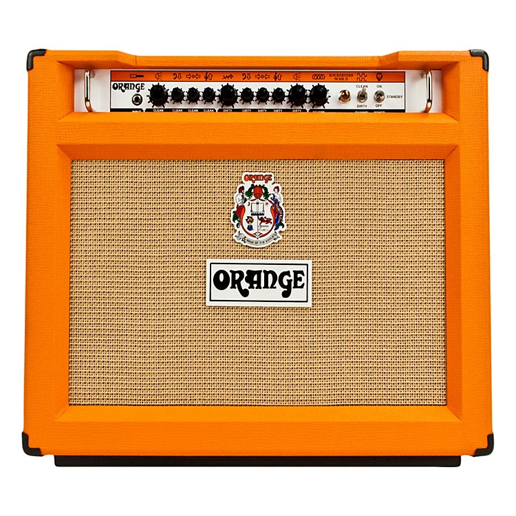 Orange Amplifiers Rockerverb 50 Series RK50TC 50W 2x12 Tube Guitar Combo Amp Orange