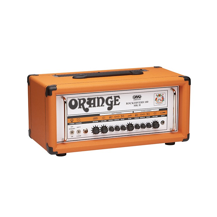 Orange Amplifiers Rockerverb RK100H MKII 100W DIVO Fitted Tube Guitar Amp Head Orange