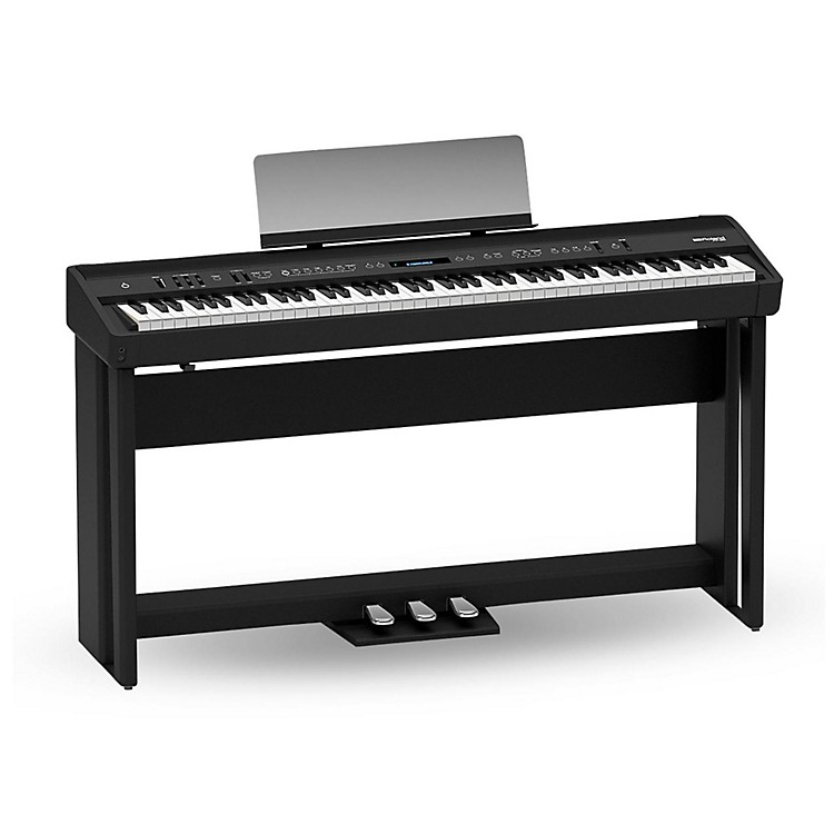 RolandRoland FP-90 Digital Piano Black with Stand and Pedal Board Black