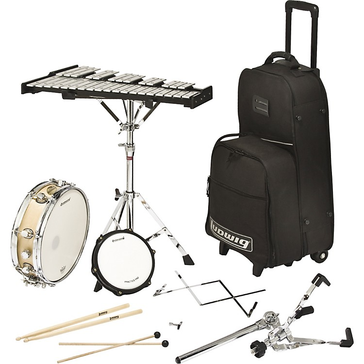 Ludwig rolling combo kit music123 for Yamaha student bell kit with backpack and rolling cart