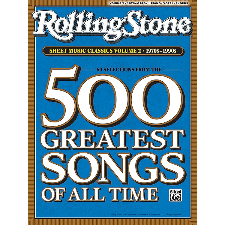 AlfredRolling Stone Sheet Music Classics Volume 2: 1970s-1990s Piano, Vocal of Guitar Book