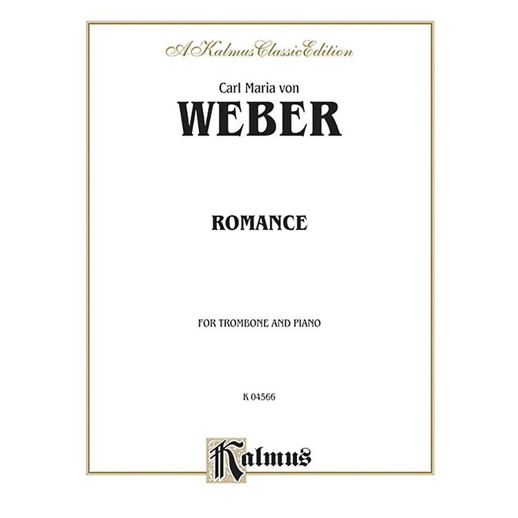 AlfredRomance for Trombone By Carl Maria von Weber Book