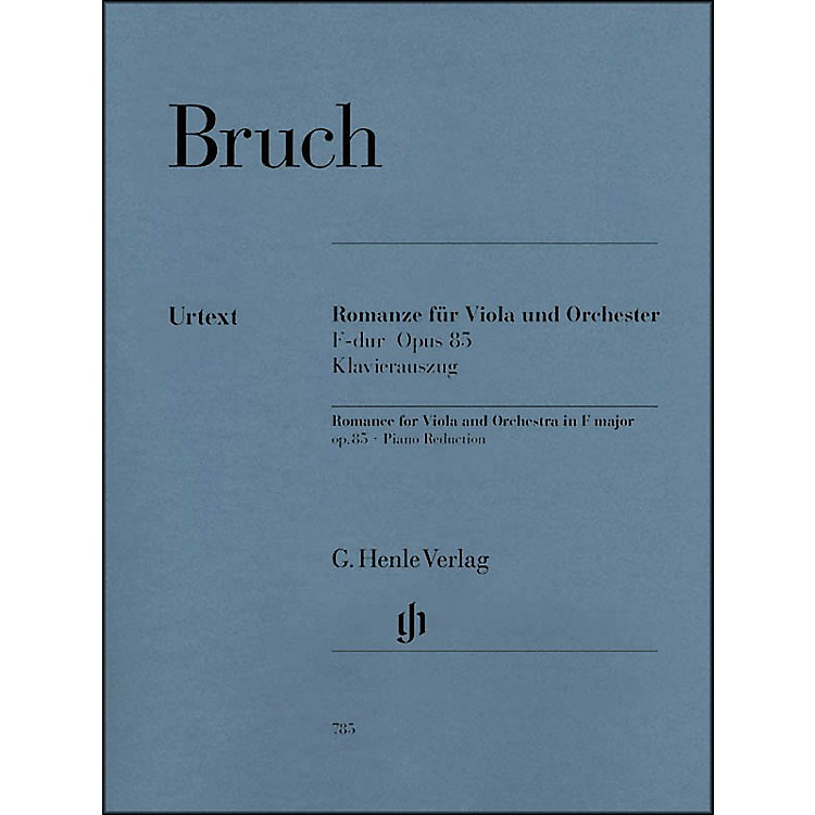 G. Henle VerlagRomance for Viola and Orchestra in F Major Op. 85 By Bruch