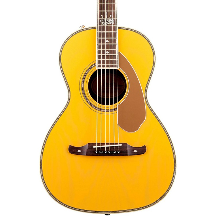 Fender Ron Emory Loyalty Parlor Acoustic Guitar Blonde