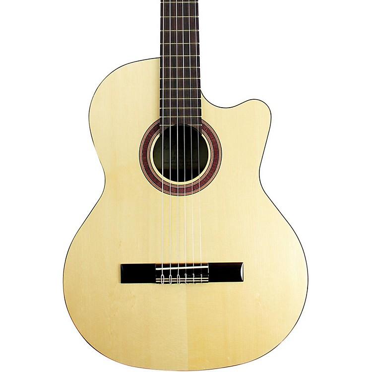 KremonaRondo Cutaway Acoustic-Electric Classical Guitar with Hardshell CaseNatural
