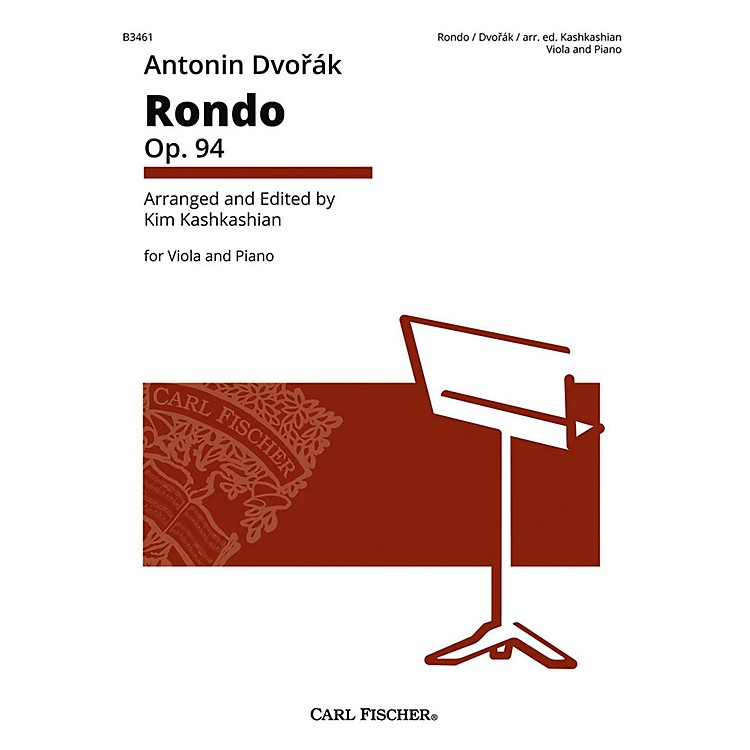 Carl Fischer Rondo Op. 94 Antonin Dvorak for Viola & Piano