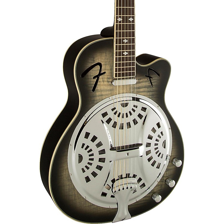 FenderRoosevelt CE Acoustic-Electric Resonator GuitarMoonlight Black Burst