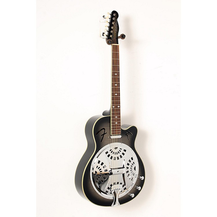 FenderRoosevelt CE Cutaway Resonator Acoustic-Electric GuitarMoonlight Black Burst888365850627
