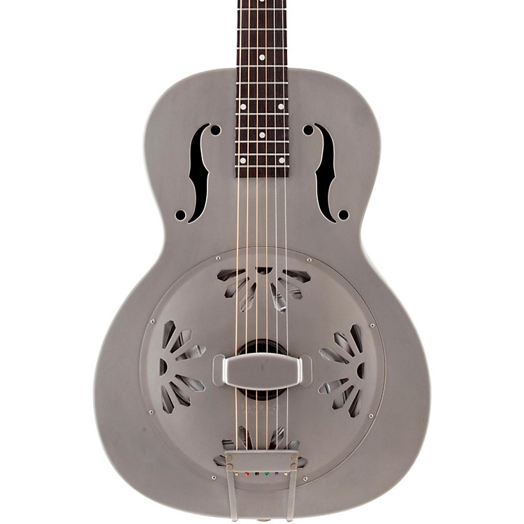 Gretsch GuitarsRoot Series G9201 Honeydipper Metal Round Neck ResonatorNickel Plated Brass Body