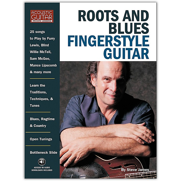String Letter PublishingRoots and Blues Fingerstyle Guitar (Book/CD)