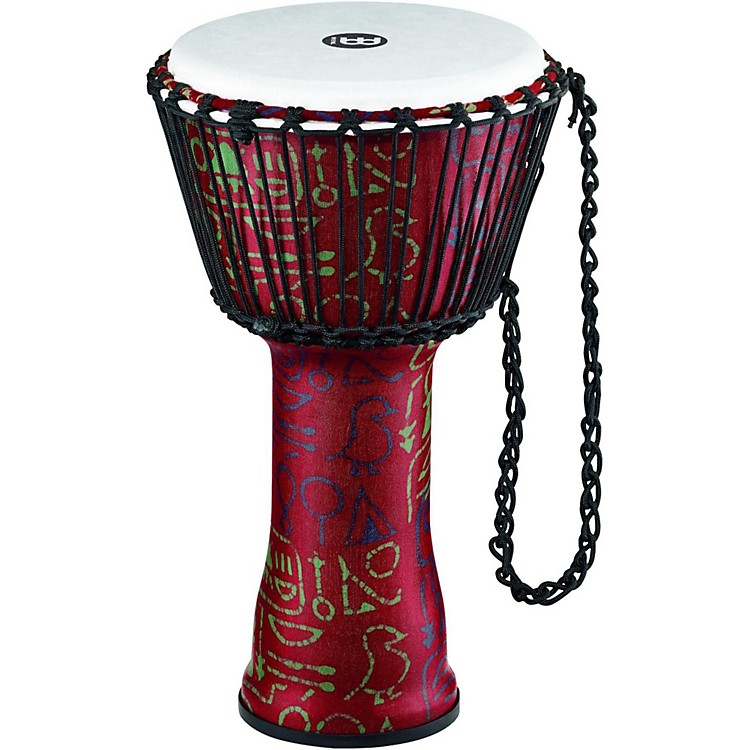 Meinl Rope Tuned Djembe with Synthetic Shell 10 in. Pharaoh's Script