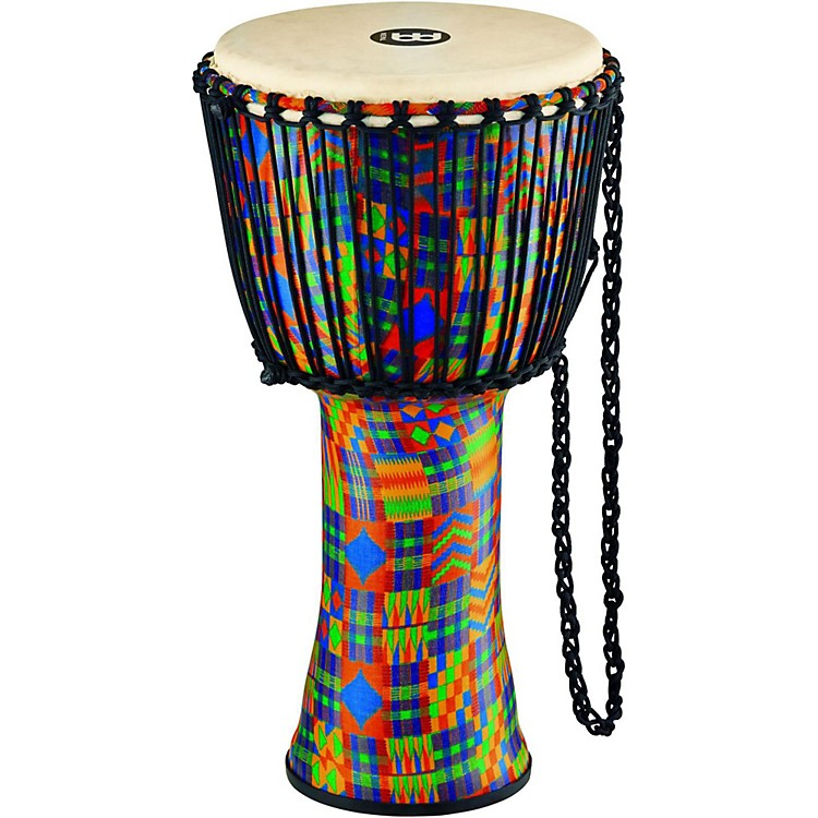 Meinl Rope Tuned Djembe with Synthetic Shell and Goat Skin Head 12 in. Kenyan Quilt
