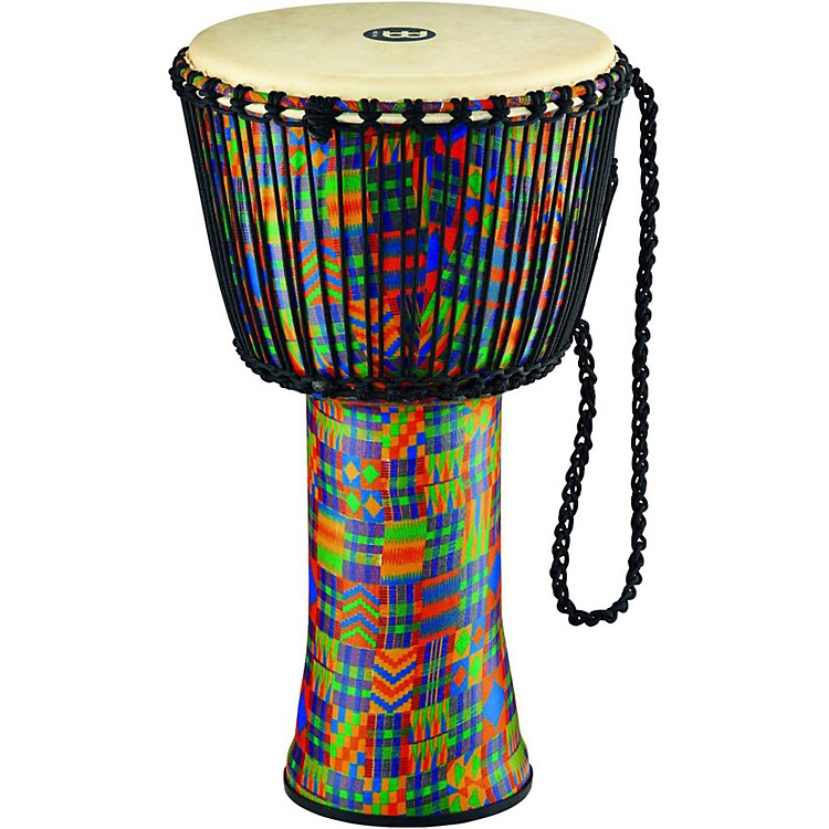 MeinlRope Tuned Djembe with Synthetic Shell and Goat Skin Head14 in.Kenyan Quilt
