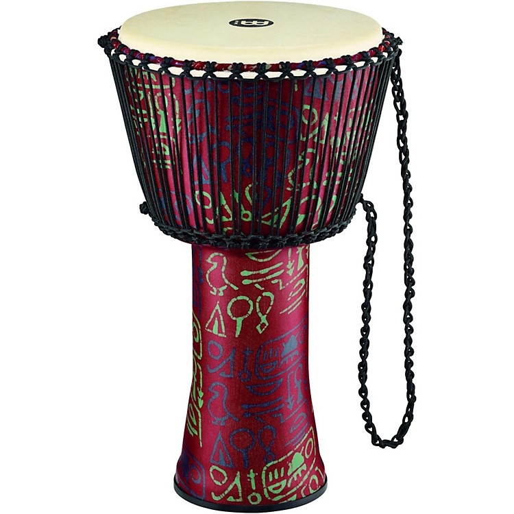 MeinlRope Tuned Djembe with Synthetic Shell and Goat Skin Head14 in.Pharaoh's Script