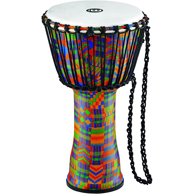 Meinl Rope-Tuned Djembe with Synthetic Shell and Head 10 in. Kenyan Quilt