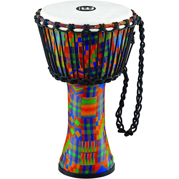 Meinl Rope-Tuned Djembe with Synthetic Shell and Head 8 in. Kenyan Quilt