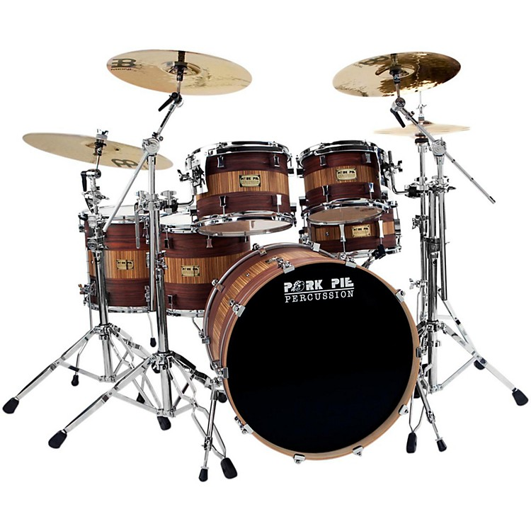 Pork Pie Rosewood Zebra Maple 5-Piece Shell Pack Rosewood Zebra