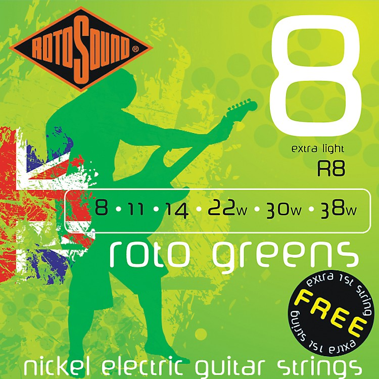 Rotosound Roto Greens Electric Guitar Strings