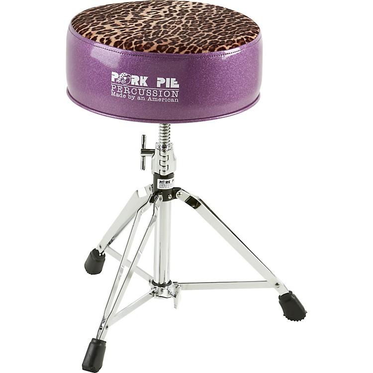 Pork PieRound Drum ThronePurple with Leopard Top