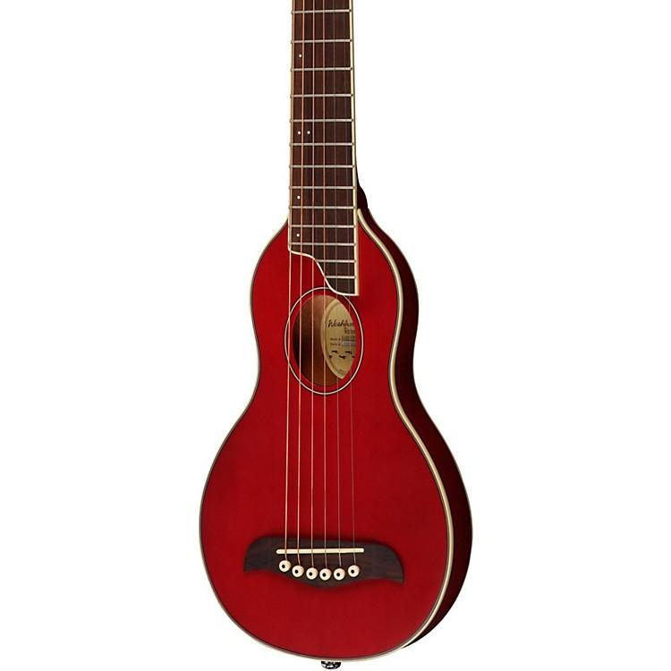 WashburnRover Travel GuitarTransparent Red