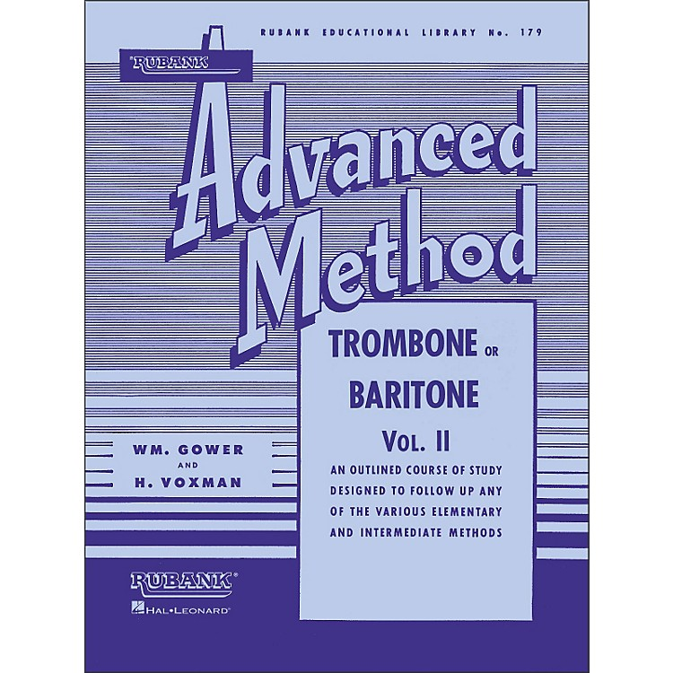 Hal Leonard Rubank Advanced Method for Trombone Or Baritone Volume 2