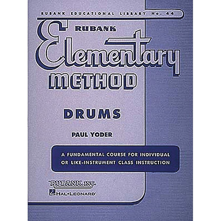 Hal Leonard Rubank Elementary Method - Drums Book