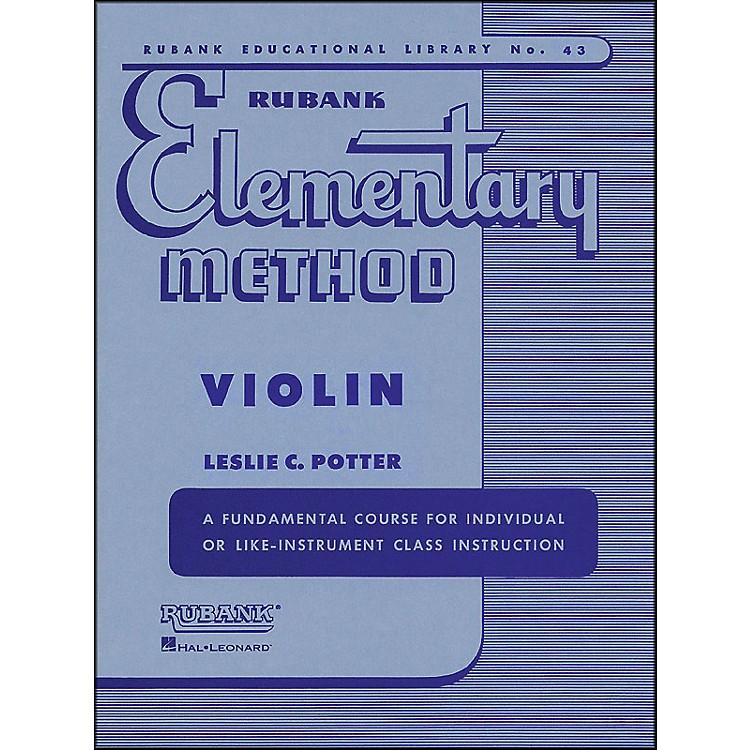 Hal LeonardRubank Elementary Method Violin