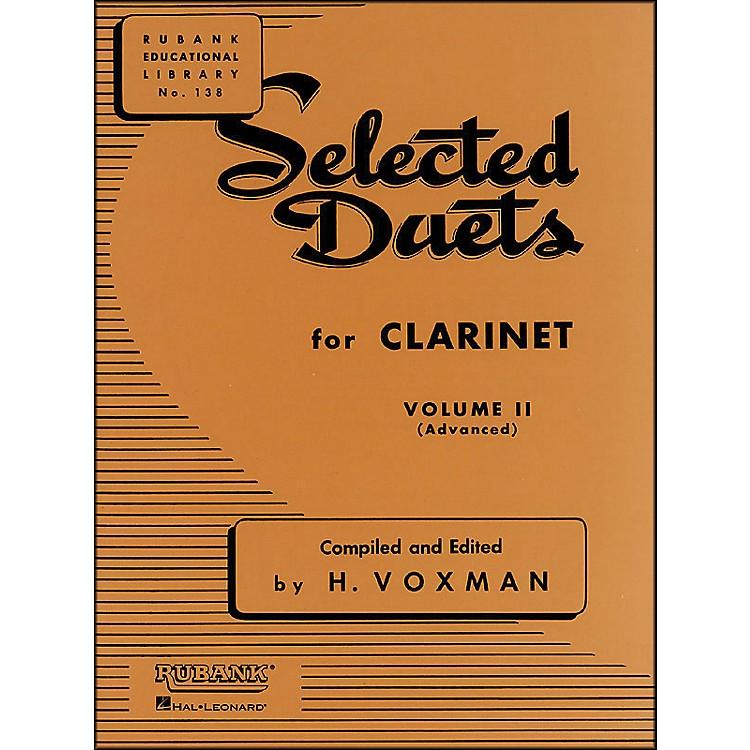 Hal LeonardRubank Selected Duets Clarinet Vol 2 Advanced