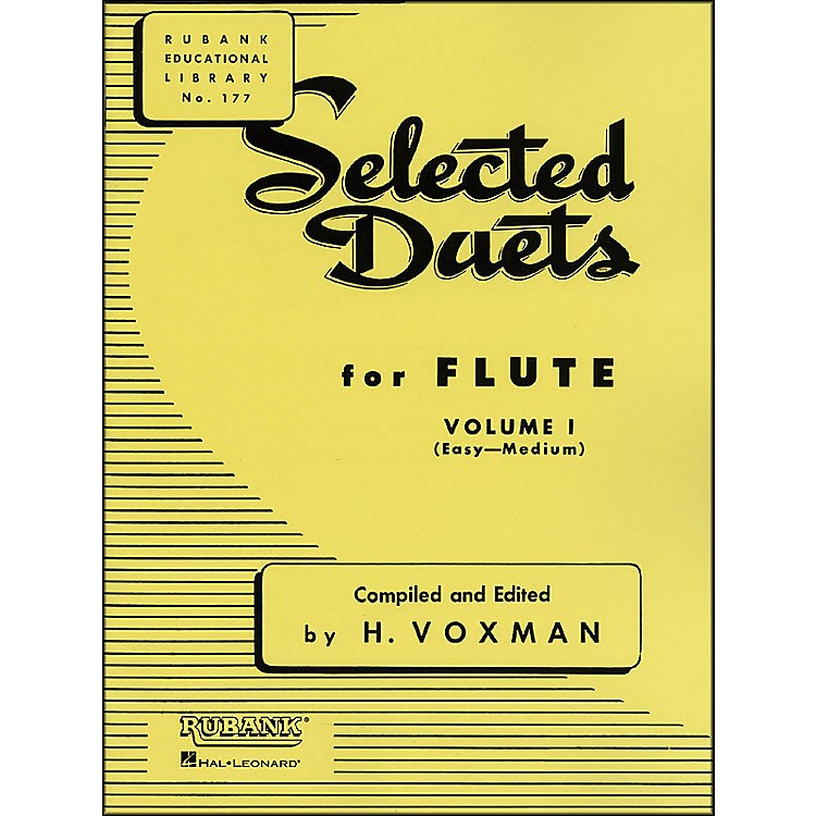 Hal Leonard Rubank Selected Duets for Flute Vol 1 Easy/Medium
