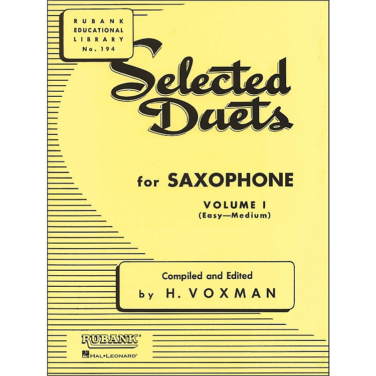 Hal LeonardRubank Selected Duets for Saxophone Vol 1 Easy/Medium