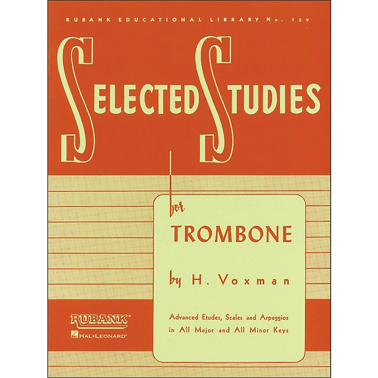 Hal Leonard Rubank Selected Studies for Trombone