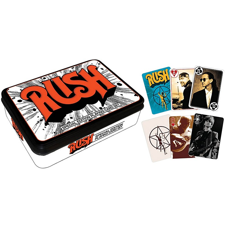 Hal Leonard Rush Playing Cards 2-Deck Set Gift Tin