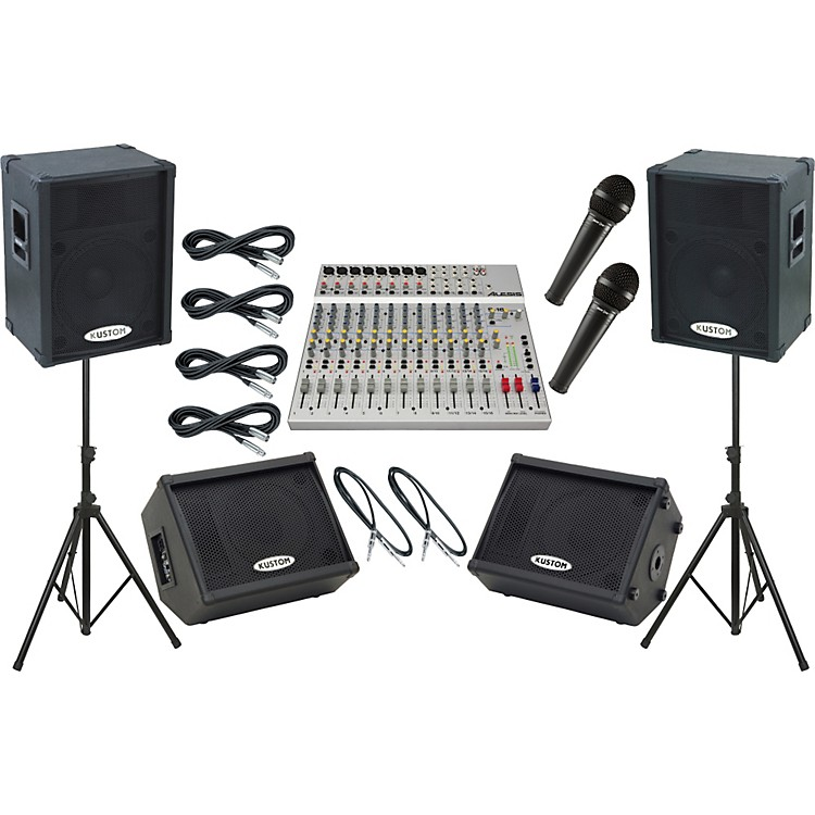 AlesisS-16 / Kustom KPC15P Mains and Monitors Live Sound Package