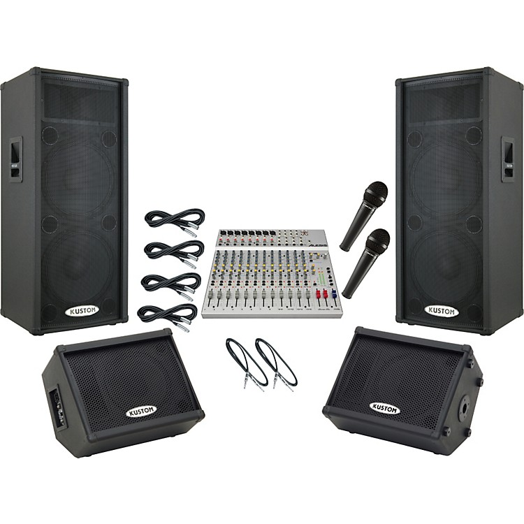 Alesis S-16 / Kustom KPC215P Mains and Monitors Package