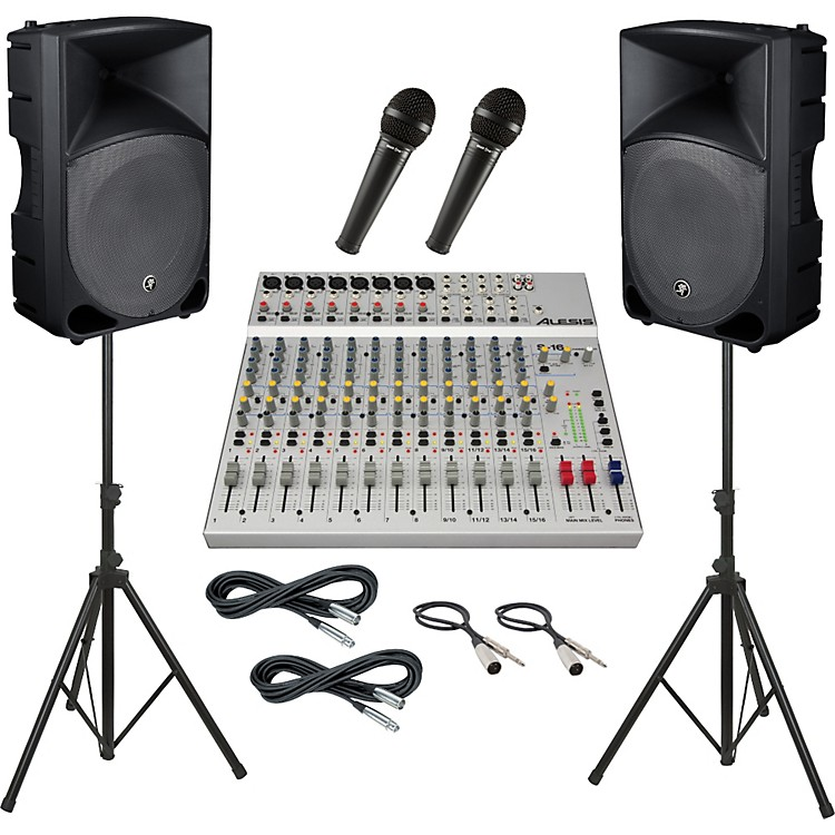 AlesisS-16 / Mackie Thump TH-15A PA Package