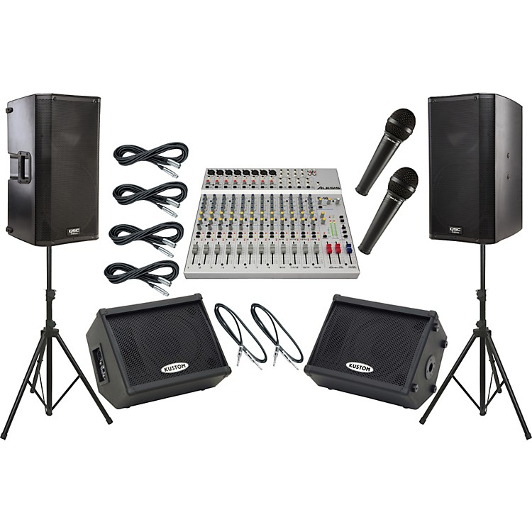 AlesisS-16 / QSC K12 Mains and Monitors Package