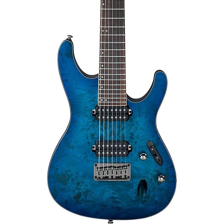 IbanezS Series S7721PB 7-String Electric GuitarFlat Sapphire